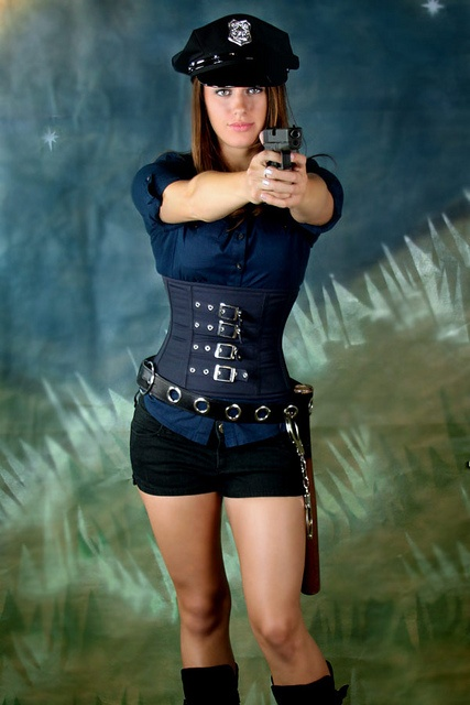 Halloween Costume Ideas from OrchardCorset.com. This is model Danielle in her cop costume. #SexyCopCostume http://www.misslovegirls.com/police-prisoner/0-0-0-0-0-0-0-0-31.html