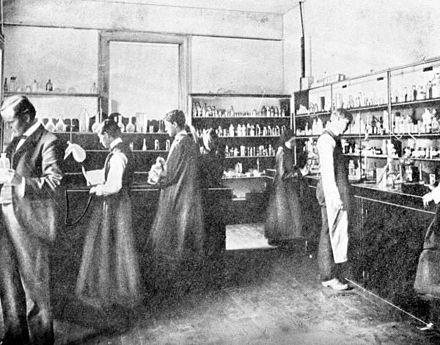 Florida Agricultural College chemistry lab 1900.