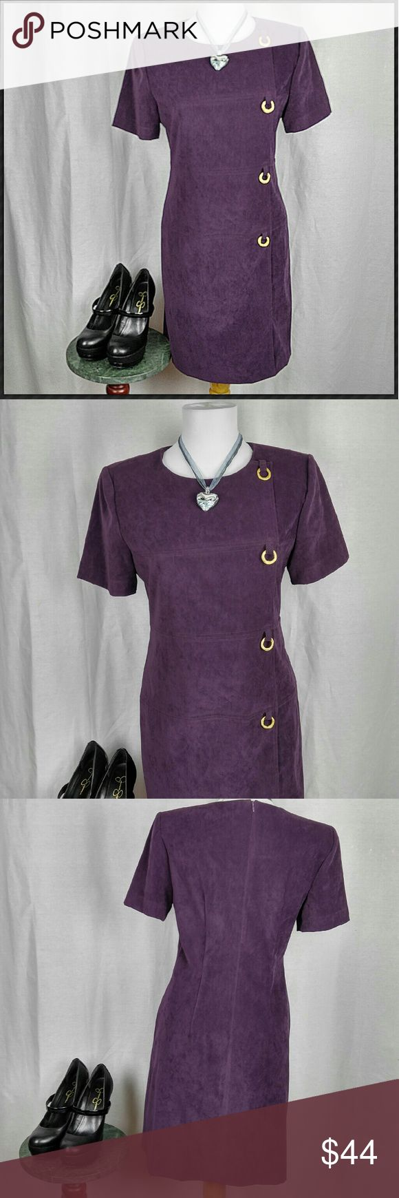 Jessica Howard Petite Dress Gorgeous purple Jessica Howard Petite dress with gold accents. Zip up back. Listing is for dress only, other items were used for styling purposes and are not included. Jessica Howard Dresses