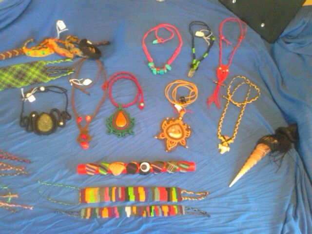 Collection of macrame jewelry for sale