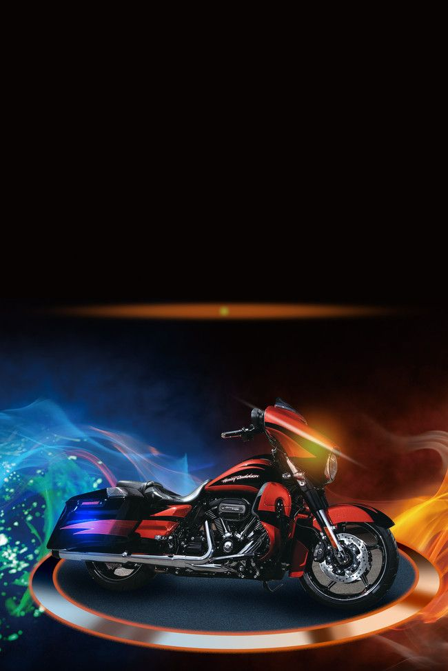 Cool Flame Motorcycle Show Flyer Poster Background Material Com