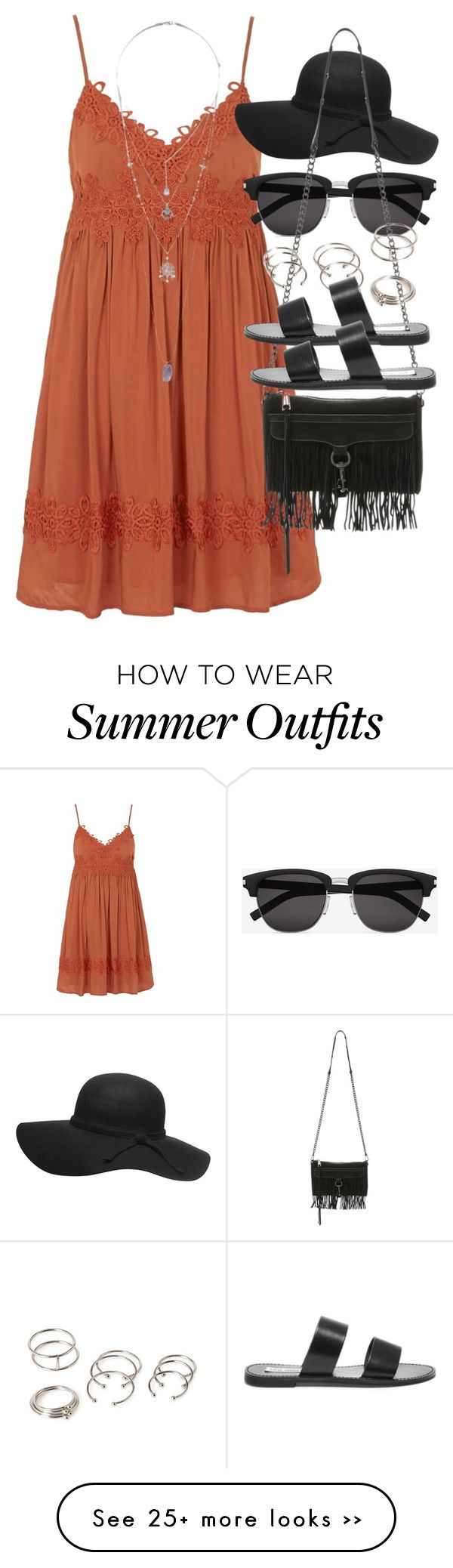 """Outfit with a summer dress"" by ferned on Polyvore"