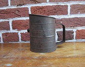 Rustic Old Metal Flour Sifter Country by TheOldTimeJunkShop
