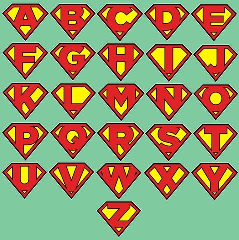 Superman logos with different letters superman logos with different letters superman alphabet lett voltagebd Image collections