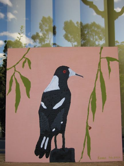 A White backed Magpie. Magpies are amazing with their beautiful singing voices.