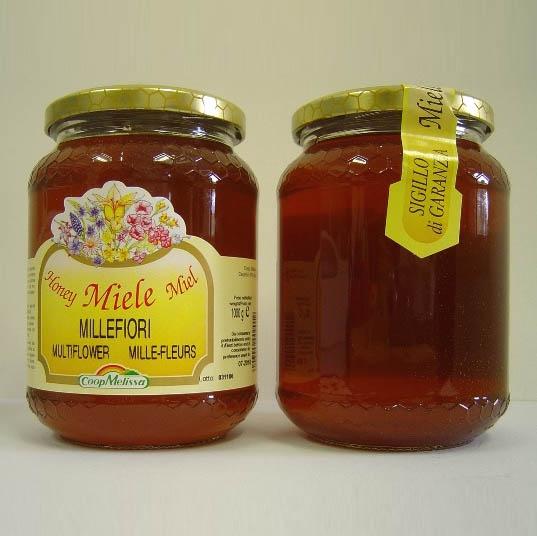 Miele Milefiori, Confezione da 500 gr, non trattato, completamente naturale.