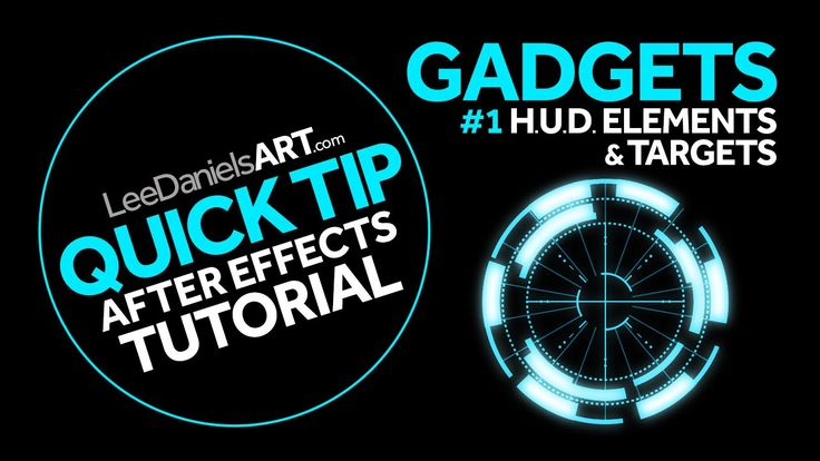 After Effects Tutorial | QUICK TIP | GADGETS #1 | HUD Elements & Targets