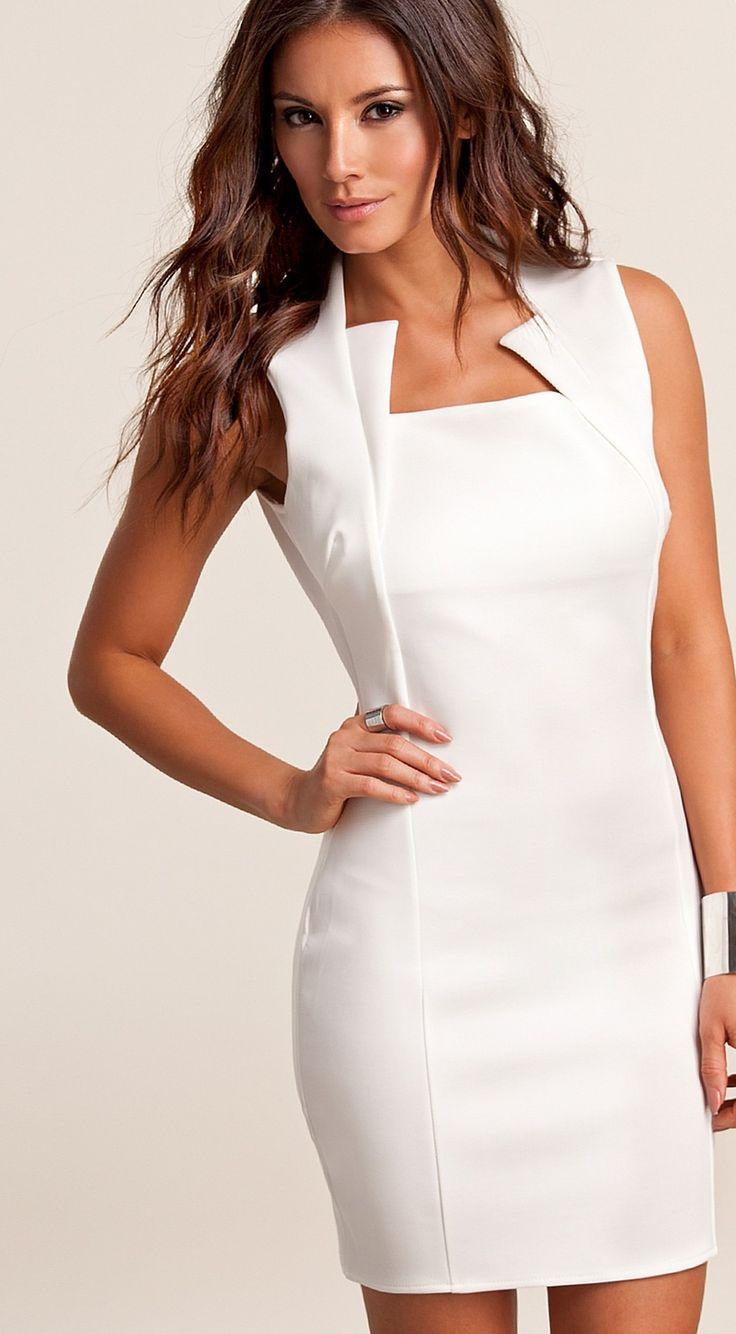 kısa beyaz şık abiye elbise modelleri
