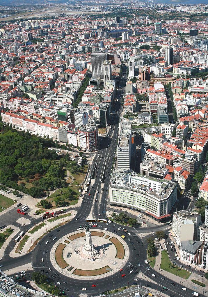 Praça do Marquês de Pombal, Lisboa, Portugal, Masterpiece of Urban engineering.