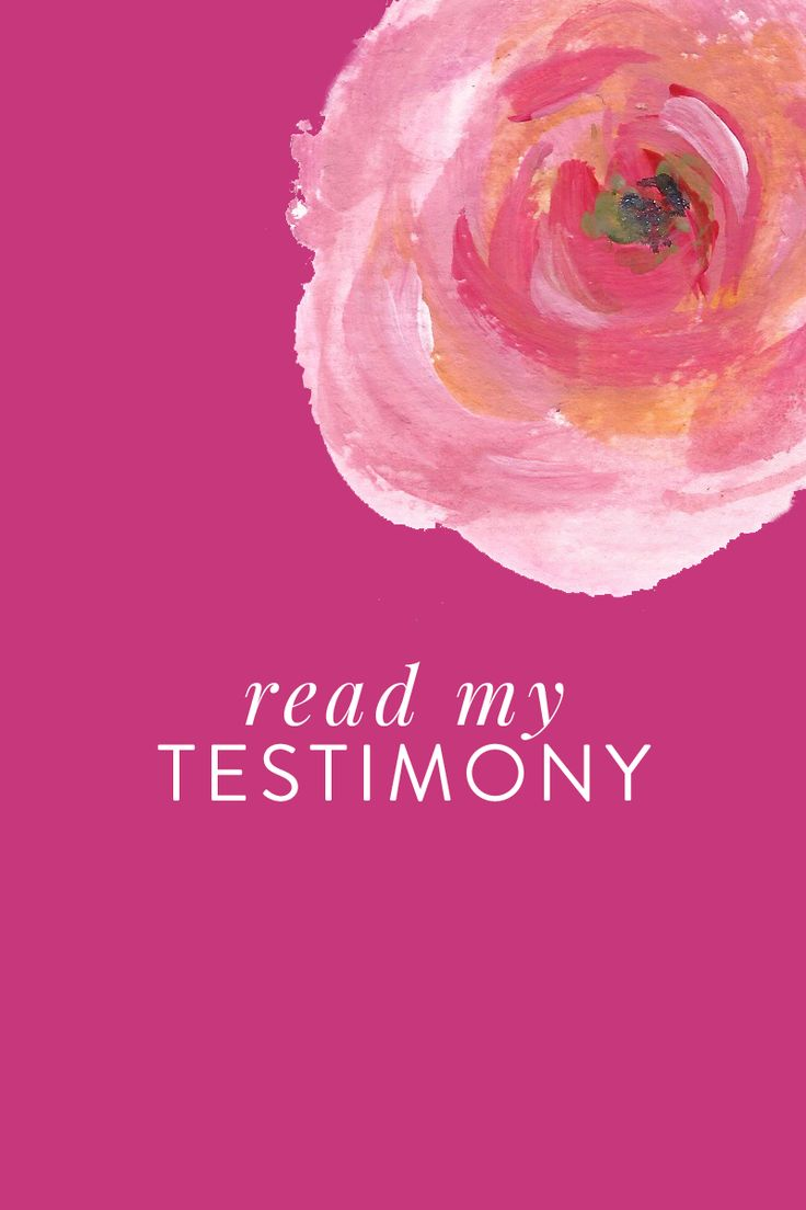 Read my Personal Testimony via @CourtneyKirklnd