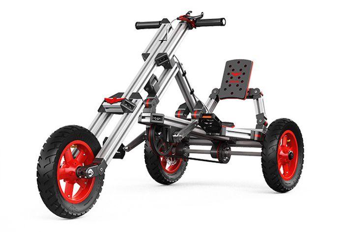 Infento, le vélo pour enfant à construire façon Meccano - http://www.leshommesmodernes.com/infento-velo/