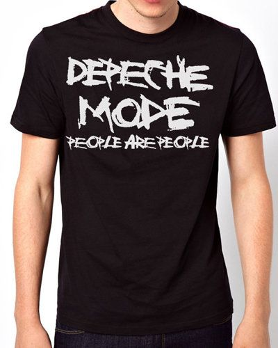 iOffer: Depeche Mode People are People Black T-Shirt for sale on Wanelo