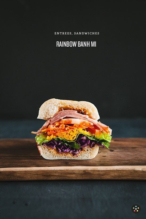 Banh Mi arco iris | 27 recetas que le darán alegría a tu vida