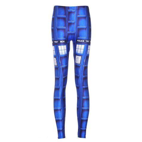 NEW Arrival 3587 Sexy Girl Women Doctor Who Tardis Cyberman 3D Prints Workout Elastic Fitness Leggings Pants