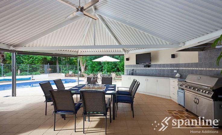 Outdoor kitchen design ideas by Spanline Australia.