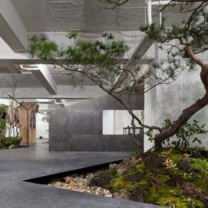 Sisii+showroom+by+Yuko+Nagayama+&+Associates++is+interspersed+with+rockeries