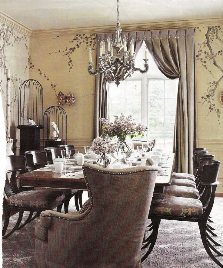 Italian Stringing For Curtains Stunning Room Finished Off With Strung That Add Additional Decorating Dining RoomsDrapery