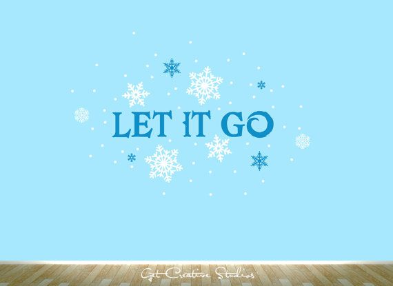 Frozen decal let it go wall sticker snow by getcreativestudios