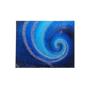 """Quadri moderni. """"Vortice astratto in blu"""" Come un onda materica, il quadro astratto del vortice, avvolge le diverse tonalità del blu, omaggio alla bellezza e purezza delle acque, dei fondali marini salentini."""