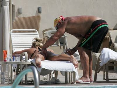 """Hulk"" Hogan and daughter Brooke Hogan. ""Back in 2008, pictures came out of Hulk…"