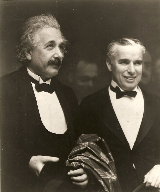 """When Albert Einstein met Charlie Chaplin. Einstein said, """"What I admire most about your art, is its universality. You do not say a word, and yet ... the world understands you."""" """"It's true"""", replied Chaplin, """"But your fame is even greater: The world admires you, when nobody understands you."""""""