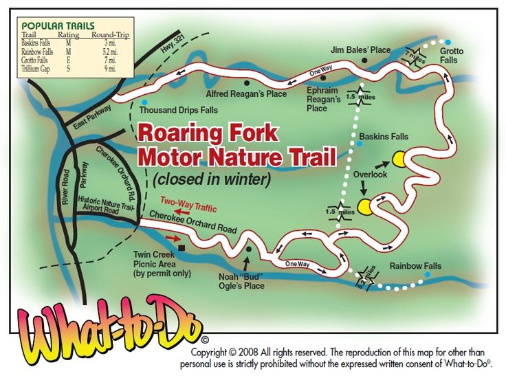 Roaring Fork Motor Nature Trail Map
