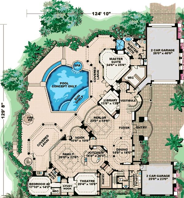 Mediterranean Home Floor Plans: Plan 66023WE: Award-Winning Design In 2019