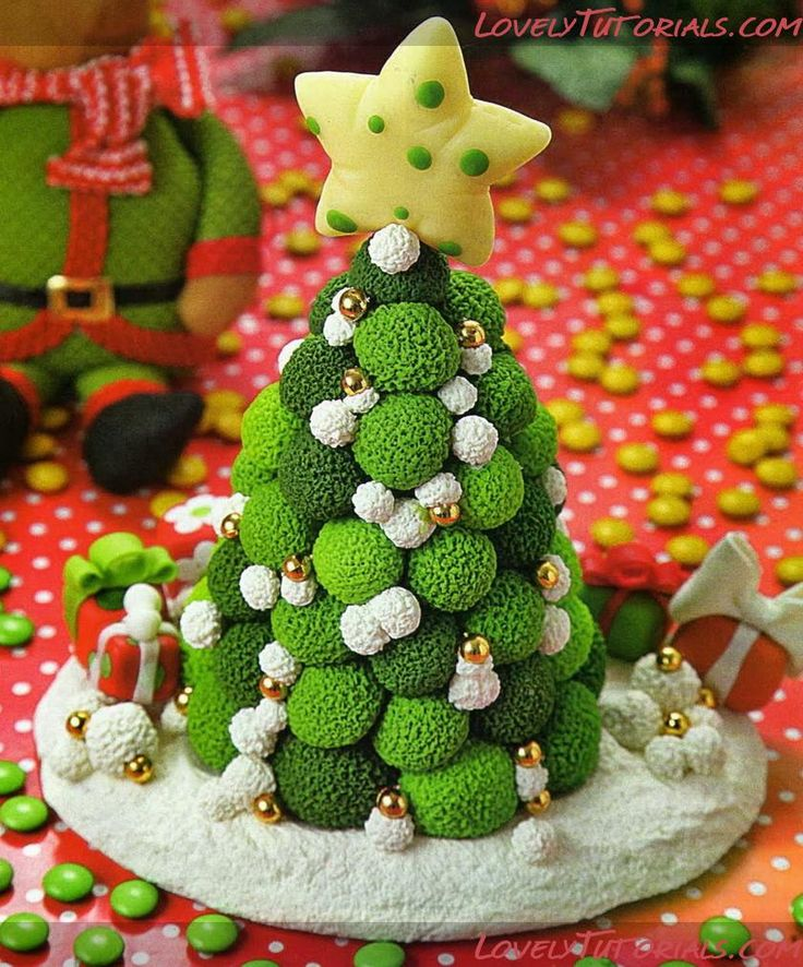 МК лепкановогодние елочки-Gumpaste (fondant, polymer clay) Christmas trees making tutorials - Страница 9 - Мастер-классы по украшению тортов Cake Decorating Tutorials (How To's) Tortas Paso a Paso