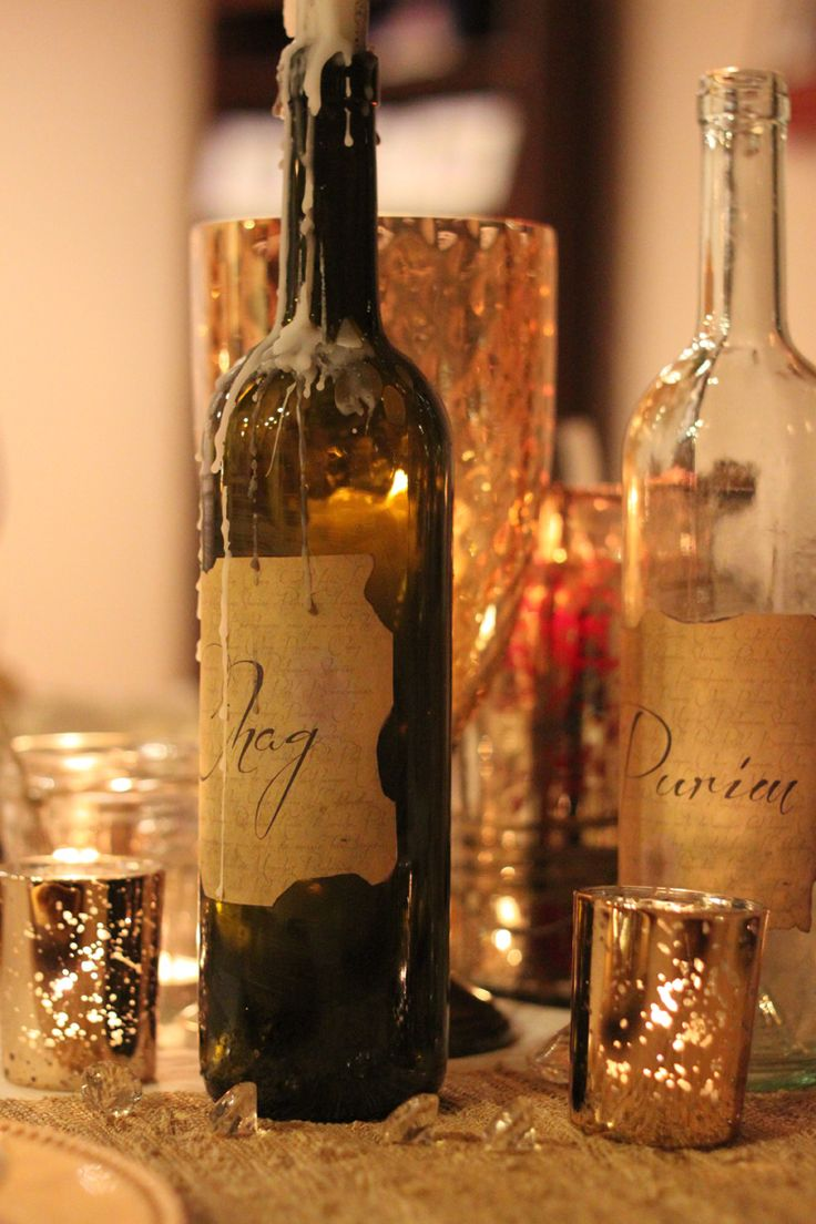 A pirate themed Purim party - bottles  (joy of kosher)