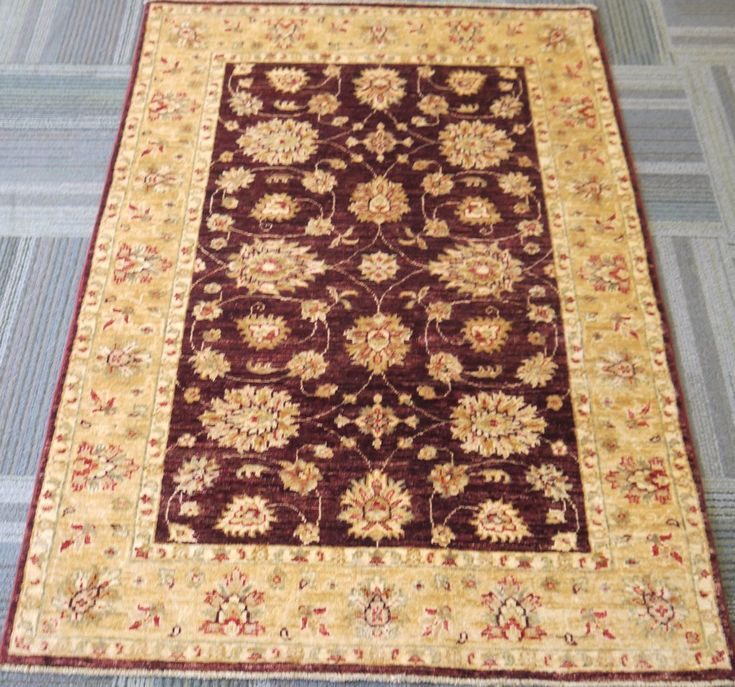 "NR: 20638 Location: Chobi Ziegler  Size: 5'0"" x 3'4"" Country: Afghanistan Pile: Wool Base: Cotton"