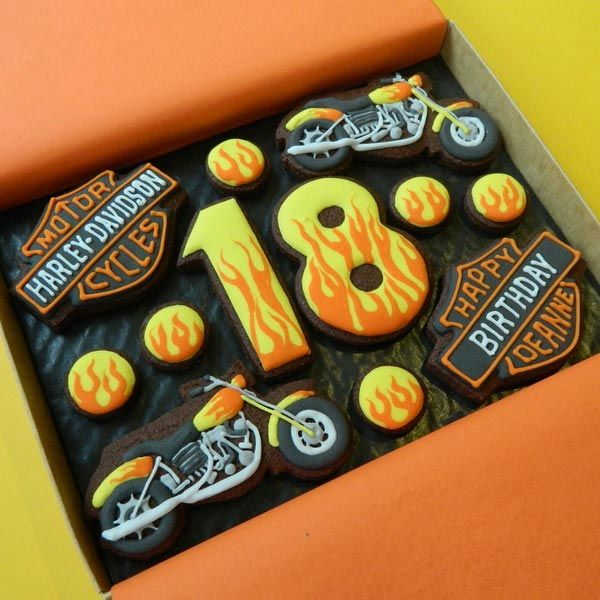 Image detail for -Harley-Davidson Birthday Box - Medium Cookie gift box unusual Harley ...