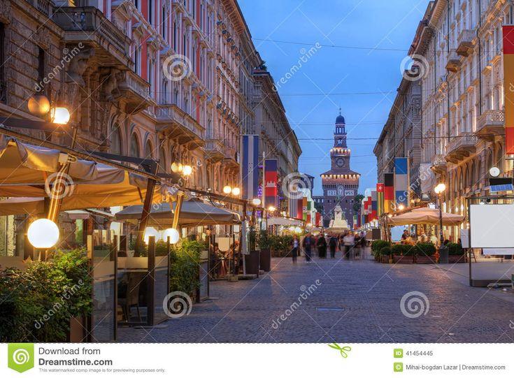 milan streets dusk art - Google Search