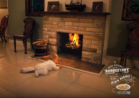 The Cape Town Fish Market: Babysitter, Fireplace