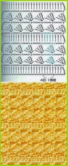 #_Crochet Stitch Pattern - Many nice stitch patterns.