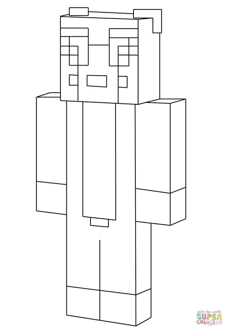 Minecraft Ausmalbilder