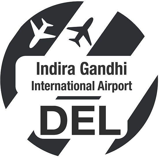 DEL, Airport in Delhi, India, black design  | Airport stickers