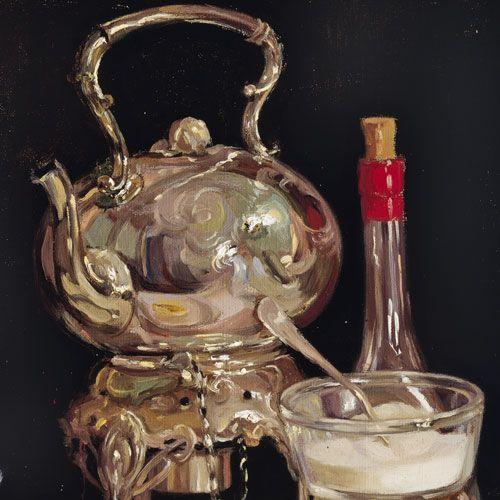 Margaret Preston- The tea urn (still life) c1909 (detail) Art Gallery of South Australia, Elder Bequest Fund 1909