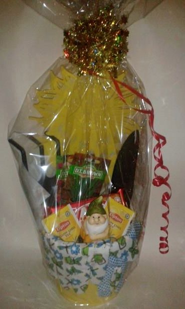 Item number 1196F - Ladies gardening pail.  For more details, please visit our facebook page: www.facebook.com/popitinaboxbusiness