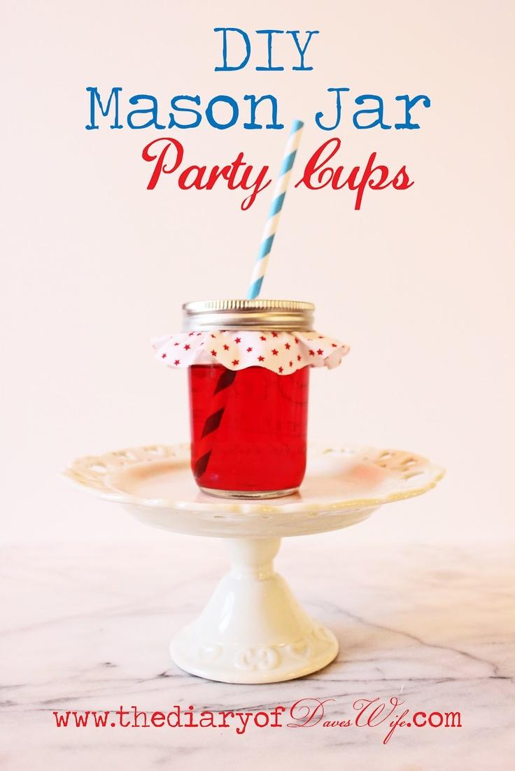 the Diary of DavesWife: Mason Jar Party Drinks: Parties Drinks, Summer Parties, Farms Parties, Crafts Kids, Diaries, Mason Jars Crafts, Crafts Parties, Sassy Site, Mason Jars Parties