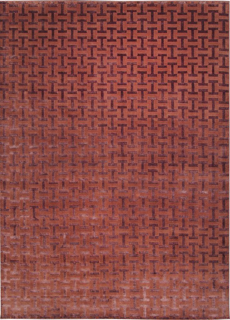 Tappeto annodato a mano in lana e fibre di bambù JIGE by Sirecom Tappeti