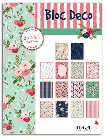Bloc de 28 feuilles de papier – 15x20cm – Lovely Flowers
