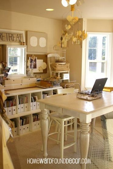 Beautifully Organized Office on the cheap...from home talk