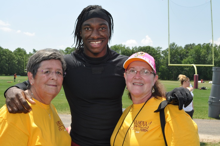 Robert Griffin, III and my friend Sally!