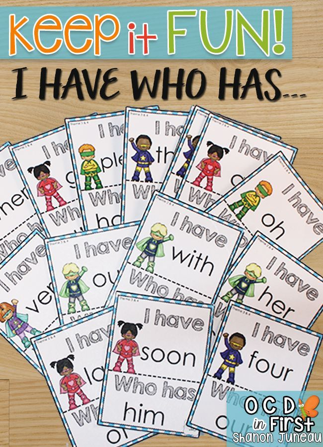 This game deals with high frequency words that first grade students need to know by the end of first grade.