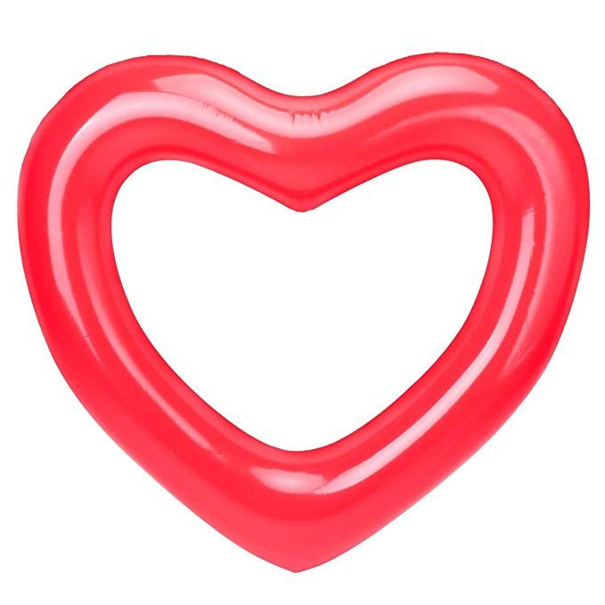 Dahen Inflatable Swim Rings Red Love Heart Swim Ring Fun Adults Or Kids Swim Party Toy Love Hear Kids Swim Party Swimming Pool Floats Pool Floats Loungers