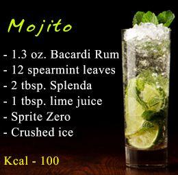 Healthy alcoholic drink recipe - Mojito