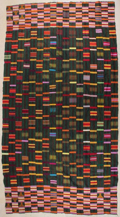 Africa | Kente Cloth. Early 20th century.