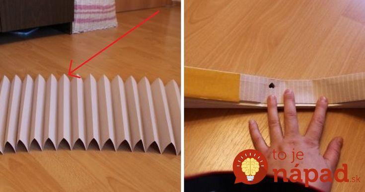 Vzala kúsok papierovej tapety a zložila ju ako harmoniku. Čo vymyslela vám ušetrí peniaze!