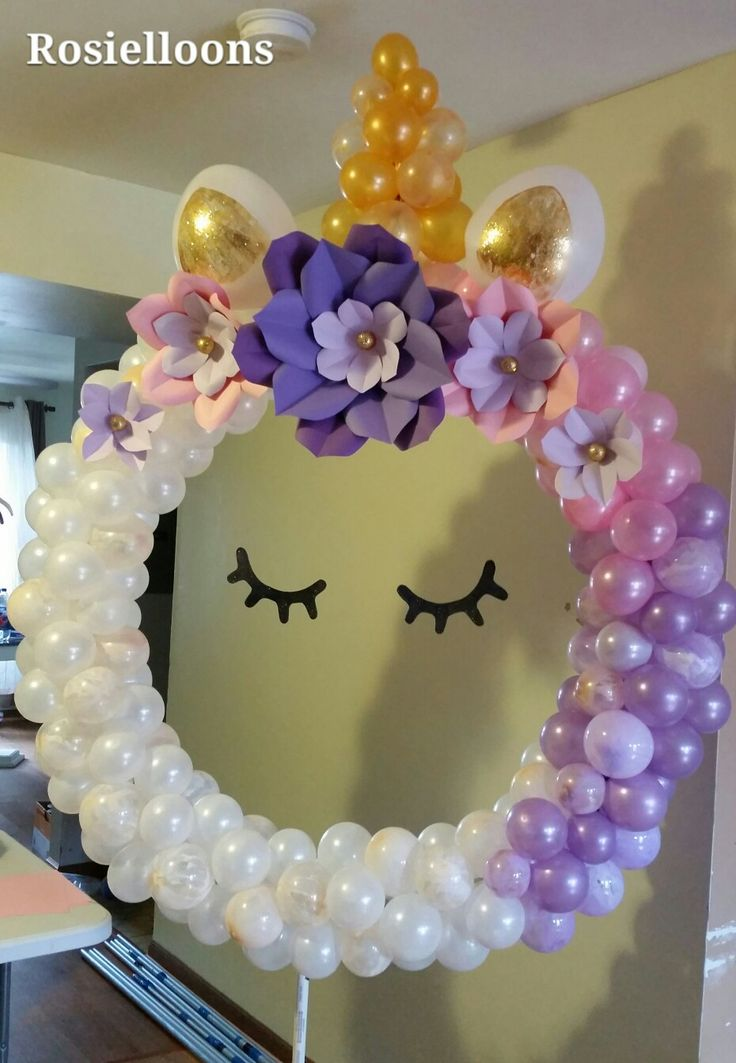 Unicorn balloon decoration