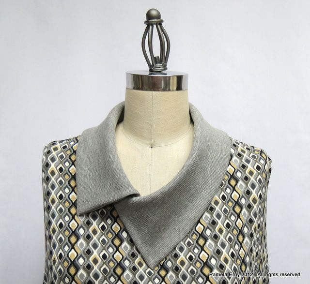 """How to add a collar to any knit top.  Off The Cuff ~Sewing Style~: The """"Split Cowl Collar"""" Tutorial"""
